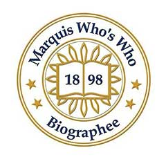 Marquis Who's Who seal where Dr. Gross is being featured