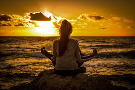 Spirituality Meditation Girl Relaxation Sunset