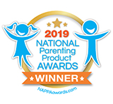 national parenting product award winner badge
